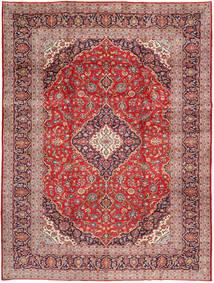 Keshan Matta 293X387 Äkta Orientalisk Handknuten Ljusbrun/Lila Stor (Ull, Persien/Iran)
