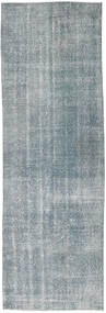 Colored Vintage Rug 91X280 Authentic  Modern Handknotted Hallway Runner  Light Grey (Wool, Turkey)