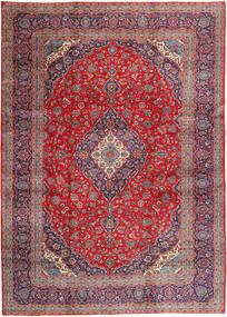 Keshan Matta 292X408 Äkta Orientalisk Handknuten Mörklila/Röd Stor (Ull, Persien/Iran)