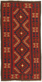 Kilim Maimane Rug 99X196 Authentic  Oriental Handwoven Rust Red/Dark Red (Wool, Afghanistan)