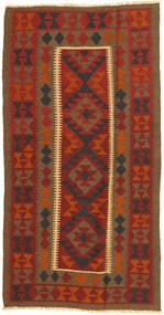 Kelim Matto 102X197 Itämainen Käsinkudottu Tummanpunainen/Ruskea/Ruoste (Villa, Persia/Iran)