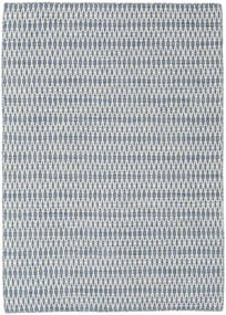 Kilim Long Stitch - Blue Rug 140X200 Authentic  Modern Handwoven Light Grey/White/Creme (Wool, India)