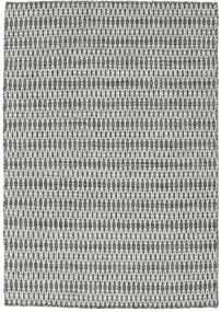 Kilim Long Stitch - Black/Grey Rug 140X200 Authentic  Modern Handwoven Dark Grey/Light Grey (Wool, India)