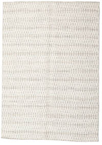 Kilim Long Stitch - Beige Rug 140X200 Authentic  Modern Handwoven Beige/Light Grey/Dark Beige (Wool, India)