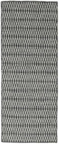 Kilim Long Stitch - Black / Grey rug CVD18798