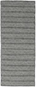 Kilim Long Stitch - Black / Grey carpet CVD18798