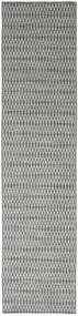 Kilim Long Stitch - Oscuro Gris Alfombra 80X340 Moderna Tejida A Mano Gris Claro/Gris Oscuro (Lana, India)