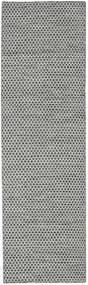 Kilim Honey Comb - Black / Grey carpet CVD18733
