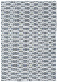 Kilim Long Stitch - Blue Rug 160X230 Authentic  Modern Handwoven Light Grey/Light Blue (Wool, India)