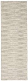Kilim Long Stitch - Beige Rug 80X240 Authentic  Modern Handwoven Hallway Runner  Light Grey/Dark Beige (Wool, India)