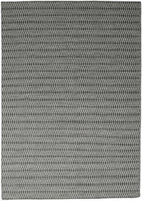 Kilim Long Stitch - Black/Grey Rug 240X340 Authentic  Modern Handwoven Dark Grey/Light Grey (Wool, India)
