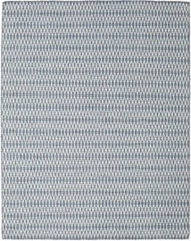 Kilim Long Stitch - Blue Rug 190X240 Authentic  Modern Handwoven Light Grey/White/Creme (Wool, India)