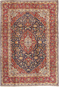 Keshan Rug 205X305 Authentic  Oriental Handknotted Dark Red/Black (Wool, Persia/Iran)