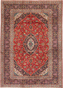 Keshan Rug 253X375 Authentic  Oriental Handknotted Dark Red/Rust Red Large (Wool, Persia/Iran)