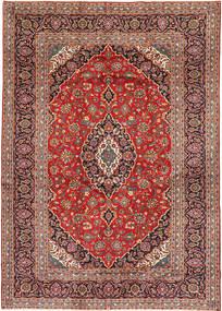 Keshan Rug 253X375 Authentic  Oriental Handknotted Dark Red/Dark Brown/Rust Red Large (Wool, Persia/Iran)