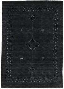 Loribaf Loom Alfa - Musta/Harmaa Matto 120X180 Moderni Tummansininen (Villa, Intia)