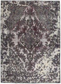 Colored Vintage Rug 193X265 Authentic  Modern Handknotted Dark Grey/Light Grey (Wool, Pakistan)