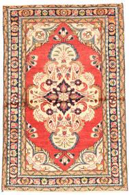 Hamadan Alfombra 100X155 Oriental Hecha A Mano Beige/Naranja (Lana, Persia/Irán)