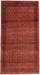 Hamadan Rug 110X215 Authentic  Oriental Handknotted Dark Red/Rust Red (Wool, Persia/Iran)