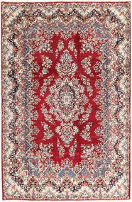 Kerman Dywan 195X297 Orientalny Tkany Ręcznie Beżowy/Ciemnoczerwony (Wełna, Persja/Iran)
