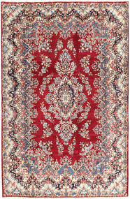 Kerman Rug 195X297 Authentic  Oriental Handknotted Beige/Dark Red (Wool, Persia/Iran)