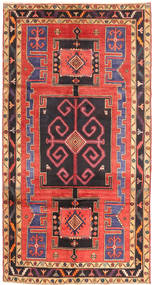 Nahavand Rug 155X295 Authentic Oriental Handknotted Black/Orange (Wool, Persia/Iran)