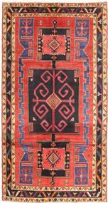 Nahavand Matto 155X295 Itämainen Käsinsolmittu Musta/Oranssi (Villa, Persia/Iran)