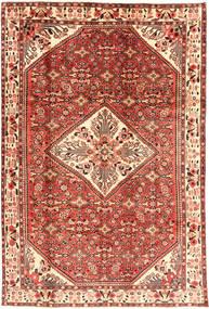 Hosseinabad Matta 202X310 Äkta Orientalisk Handknuten Brun/Ljusbrun (Ull, Persien/Iran)