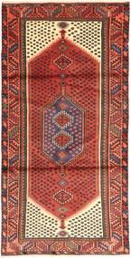 Zanjan Matto 102X203 Itämainen Käsinsolmittu Tummanpunainen/Ruskea (Villa, Persia/Iran)