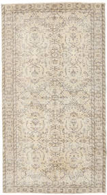 Colored Vintage Rug 113X206 Authentic  Modern Handknotted Light Brown/Beige (Wool, Turkey)