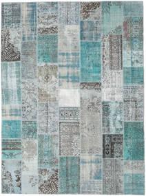 Patchwork Szőnyeg 272X369 Modern Csomózású Világoskék/Türkiz Kék/Világosszürke Nagy (Gyapjú, Törökország)