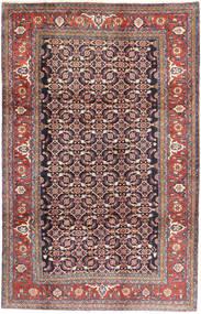 Hamadan Matta 207X325 Äkta Orientalisk Handknuten Brun/Lila (Ull, Persien/Iran)