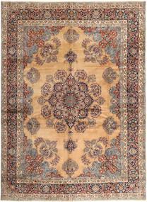 Kerman Matto 295X407 Itämainen Käsinsolmittu Vaaleanruskea/Vaaleanpunainen Isot (Villa, Persia/Iran)