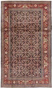 Hamadan Teppe 200X337 Ekte Orientalsk Håndknyttet Mørk Rød/Lys Grå (Ull, Persia/Iran)