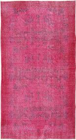 Colored Vintage Matto 111X206 Moderni Käsinsolmittu Pinkki/Vaaleanvioletti (Villa, Turkki)