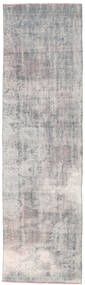 Colored Vintage Rug 84X300 Authentic  Modern Handknotted Hallway Runner  Light Grey/White/Creme (Wool, Turkey)
