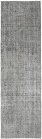 Colored Vintage Rug 91X303 Authentic  Modern Handknotted Hallway Runner  Dark Grey/Light Grey (Wool, Turkey)