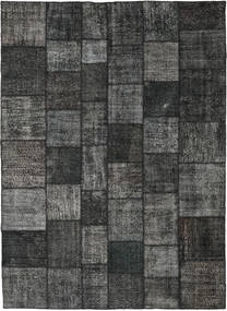 Patchwork Rug 252X350 Authentic  Modern Handknotted Dark Grey/Black Large (Wool, Turkey)