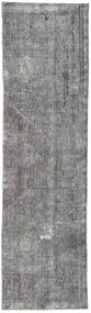 Colored Vintage Rug 78X295 Authentic  Modern Handknotted Hallway Runner  Light Grey/Dark Grey (Wool, Persia/Iran)
