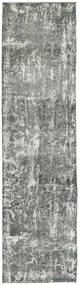 Colored Vintage Rug 75X310 Authentic  Modern Handknotted Hallway Runner  Light Grey/Dark Grey (Wool, Persia/Iran)