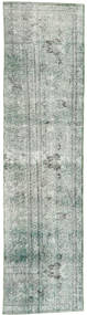 Colored Vintage Rug 70X295 Authentic  Modern Handknotted Hallway Runner  Light Grey/Dark Grey (Wool, Persia/Iran)