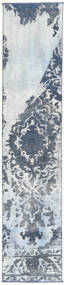 Colored Vintage Rug 55X283 Authentic  Modern Handknotted Hallway Runner  Light Grey/Beige (Wool, Persia/Iran)