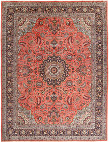 Hamadan Rug 310X400 Authentic  Oriental Handknotted Light Brown/Brown Large (Wool, Persia/Iran)