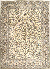 Keshan Rug 300X402 Authentic  Oriental Handknotted Light Brown/Beige Large (Wool, Persia/Iran)