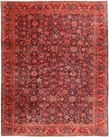 Nanadj Rug 333X418 Authentic  Oriental Handknotted Dark Red/Rust Red Large (Wool, Persia/Iran)