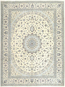 Nain 6La Rug 305X400 Authentic  Oriental Handknotted Beige/Light Grey Large (Wool/Silk, Persia/Iran)