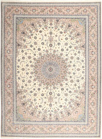 Isfahan Silk Warp Rug 315X420 Authentic Oriental Handknotted Light Grey/Beige/Light Brown Large (Wool/Silk, Persia/Iran)