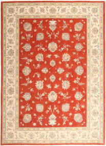 Tabriz 50 Raj With Silk Rug 296X403 Authentic  Oriental Handknotted Rust Red/Orange Large (Wool/Silk, Persia/Iran)