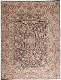 Kerman Koberec 290X387 Orientální Ručně Tkaný Světle Šedá/Tmavě Hnědá Velký (Vlna, Persie/Írán)