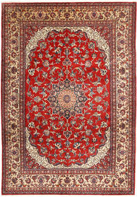 Najafabad Matta 266X390 Äkta Orientalisk Handknuten Mörkröd/Brun Stor (Ull, Persien/Iran)